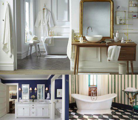 Mueble de baño estilo neoclásico