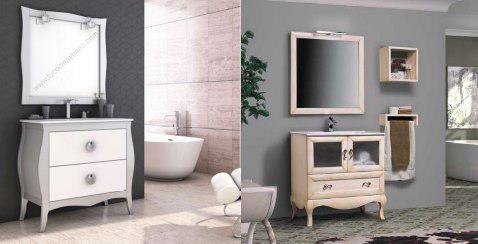Mueble de baño estilo isabelino