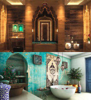 Mueble de baño estilo árabe