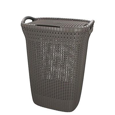 Cesta de ropa Knit, 57 L, 43.2 x 32.1 x 59.4 cm, color marrón topo