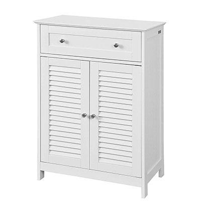 Mueble Auxiliar para baño, Armario de almacenaje Organizador para baño con 1 cajones y 2 Puertas