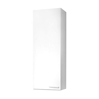 Mueble de lavabo Koncept, columna de baño acabado en color Blanco Brillo, medidas 30 x 85 x 25 cm de fondo