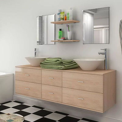 Comprar Muebles de baño color beige