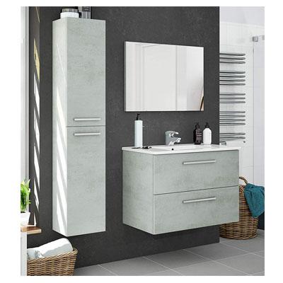 Pack Muebles baño Plutón diseño Moderno (Mueble Baño + Espejo + Columna + Lavabo Cerámica)
