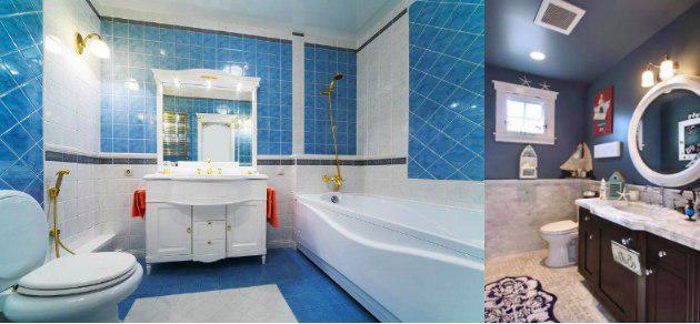 Mueble color azul