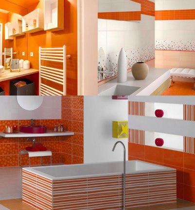 Mueble color naranja
