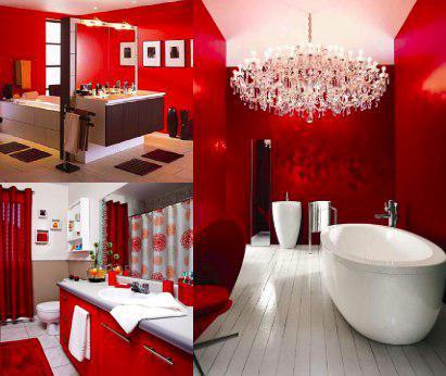 Mueble color rojo