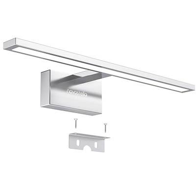 Novostella 10W Aplique Espejo Baño LED Interior, 800LM Blanco Frío 6000K Impermeable IP44 Lámpara de Pared Cuarto, 400x125x95 mm