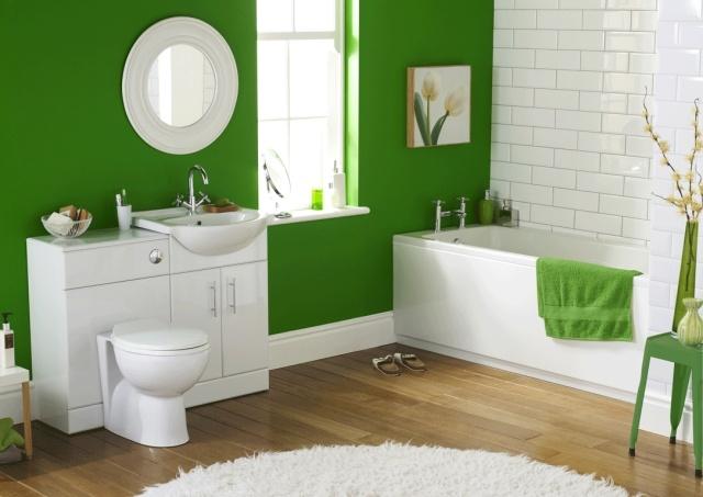 Cuarto de baño color verde