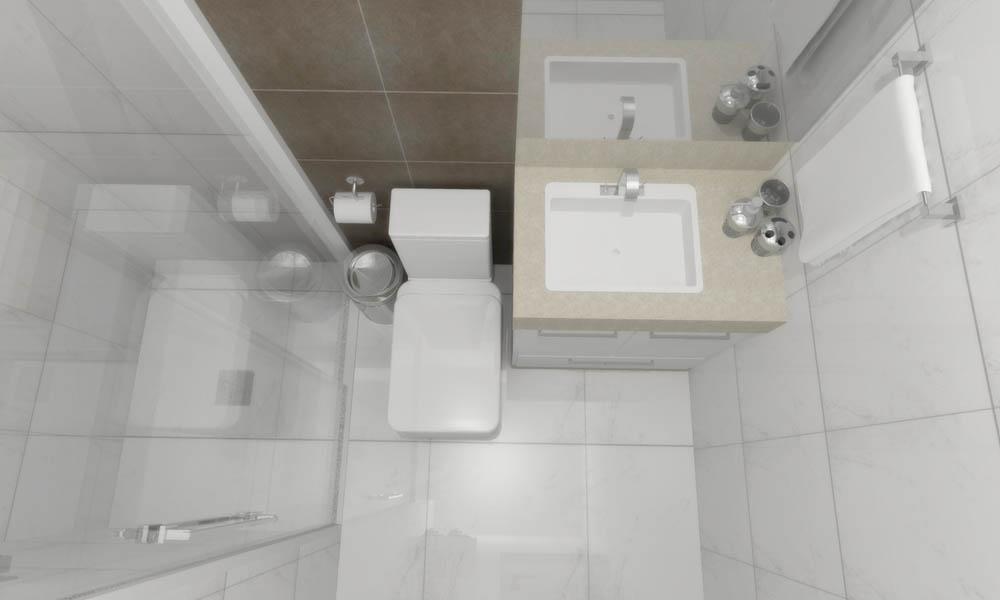 El cuarto de baño en un pequeño estudio
