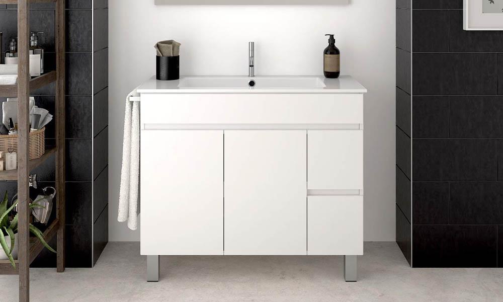 ¿Cómo instalar un mueble de baño con patas?