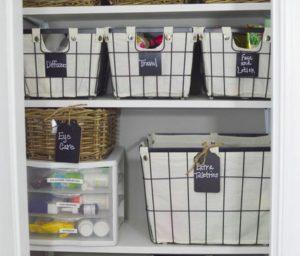 cestas cajas y organizadores para el cuarto de baño